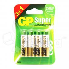 Батарейка GP Super LR6 AA Alkaline 1.5V (4 шт. в блистере)