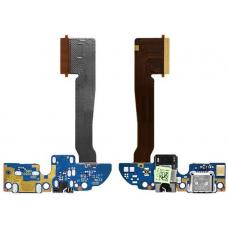 Шлейф зарядки HTC One E8 Dual / разъем гарнитуры / микрофон