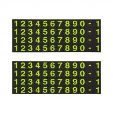 Автовизитка HOCO CPH19 One-Click, 12 цифр (черная)