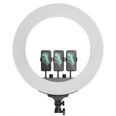 Кольцевая светодиодная лампа с 3-мя держателями M22 (55 см) LED Soft Ring Light (white)