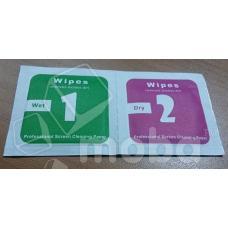 Салфетки для наклейки защитного стекла (2 шт.)