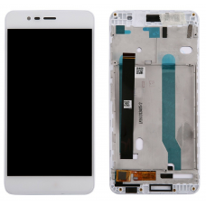 Дисплей с тачскрином Asus ZenFone 3 Max ZC520TL (X008D) в рамке белый