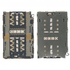 Коннектор Sim + карты памяти Huawei Honor 8/ Honor 7/ P9/ P9 Lite/ Meizu M3E/ P9 Plus