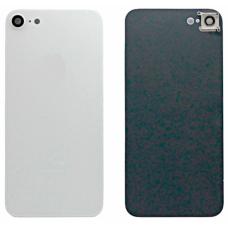 Задняя крышка для iPhone 8 белая в сборе со стеклом камеры оригинал