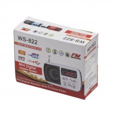 Колонка - радиоприемник WS882 Micro SD/FM радио (белая)