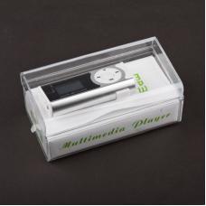 MP3 плеер с дисплеем и функцией фонарика (серебряный/коробка)