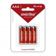 Батарейка алкалиновая Smartbuy LR03 AAA 4шт в блистере