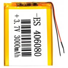 Аккумулятор Универсальный 4.0*60*80 mm 3.7v 3000mAh ( 406080P )