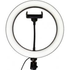 Кольцевая светодиодная лампа с держателем (25.5 см) (white)
