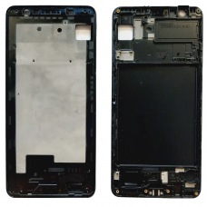Рамка дисплея для Samsung A750F (A7 2018) Черная