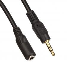 Аудиокабель удлинитель M-F 3 м. (черный/европакет)