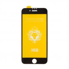 Защитное стекло для iPhone 6/6s Full Glue Original Glass 10D 0,3 мм (желтая подложка)