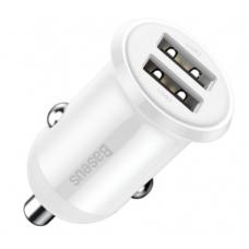 Автомобильное зарядное устройство Baseus Grain Pro Car Charger (Dual USB 4.8A) CCALLP-01, CCALLP-02 (white)