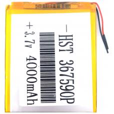 Аккумулятор Универсальный 3.6*75*90 mm 3.7v 4000mAh ( 367590P )