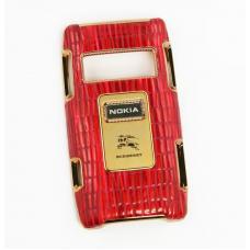 Защитная крышка для Nokia X7 кожаный