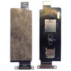 Шлейф коннектор Sim + карты памяти Asus ZenFone Zoom ZX551ML (Z00XL)