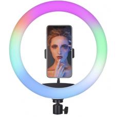Цветная кольцевая светодиодная лампа с держателем RGB LED MJ-33 (33 см) Soft Ring Light (без штатива) (white)
