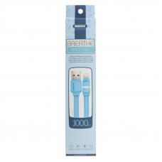 USB кабель REMAX Breathe Series Cable RC-029i Apple Lightning 8-pin (синий)