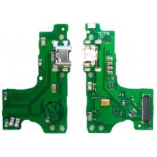 Шлейф зарядки Huawei Y6 2019 (MRD-LX1)/ Honor 8A (JAT-LX1) микрофон