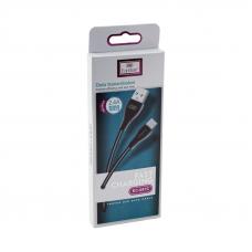 USB кабель Earldom EC-087С USB Type-C 1 метр (черный)