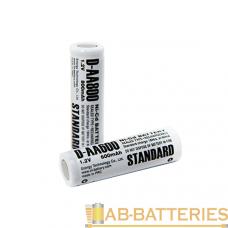 Аккумулятор ET D-AA600 14.5*48.5, 1.2В, 600мАч, Ni-CD (1/50/600)