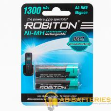 Аккумулятор ROBITON 1300MHAA-2 DECT BL2 (2/50/200)