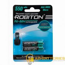 Аккумулятор ROBITON 550MHAAA-2 DECT BL2 (2/50/200)