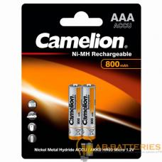 Аккумулятор бытовой Camelion R03 AAA BL2 NI-MH 800mAh (2/24/480)