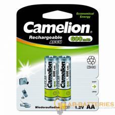 Аккумулятор бытовой Camelion R6 AA BL2 NI-CD 600mAh (2/24/480)