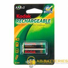 Аккумулятор бытовой Kodak R03 AAA BL2 NI-MH Pre-Charged 850mAh (2/20/240/20160)