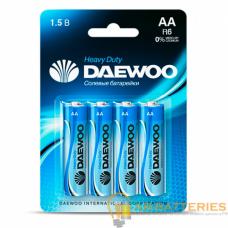 Батарейка Daewoo R6 AA BL4 Heavy Duty 1.5V (4/40/960)