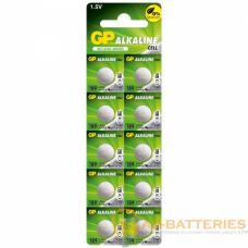 Батарейка GP G10/LR1130/LR54/389A/189 BL10 Alkaline 1.5V отрывные (10/250/5000)