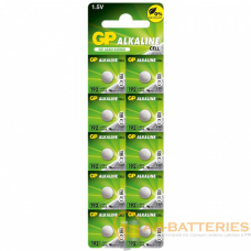 Батарейка GP G3/LR736/LR41/392A/192 BL10 Alkaline 1.5V отрывные (10/250/5000)