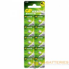 Батарейка GP G4/LR626/LR66/377A/177 BL10 Alkaline 1.5V отрывные (10/250/5000)