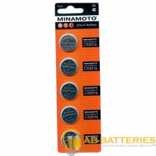 Батарейка Minamoto CR2016 BL5 Lithium 3V (5/100/5000)