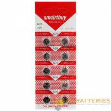 Батарейка Smartbuy G9/LR936/LR45/394A/194 BL10 Alkaline 1.5V (10/200/2000)