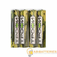 Батарейка Трофи Classic R03 AAA Shrink 4 Heavy Duty 1.5V (4/60/1200/72000)