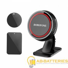 Держатель автомобильный Borofone BH13 липучка магнит черный красный (1/120)