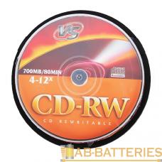 Диск CD-RW VS 700MB 4-12x 25шт. cake box (25/250)