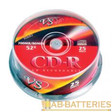 Диск CD-R VS 700MB 52x 25шт. (25/250)