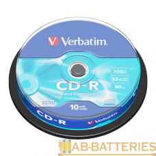 Диск CD-R Verbatim DL 700MB 52x 10шт. cake box (10/200)