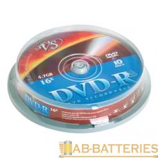 Диск DVD-R VS 4.7GB 16x 10шт. cake box (10/200)