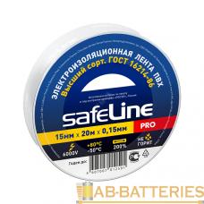 Изолента Safeline ПВХ 15мм*20м белый (10/200)
