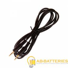 Кабель AUX Atcom Jack 3.5mm (m)-Jack 3.5mm (m) 1.5м силикон черный (1/10/200)