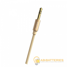Кабель AUX Borofone BL3 Jack 3.5mm (m)-Jack 3.5mm (m) 1.0м ткань золотой (1/50/200)