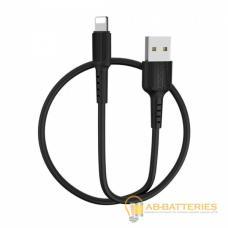 Кабель Borofone BX16 USB (m)-Lightning (m) 1.0м 2.0A силикон черный (1/648)