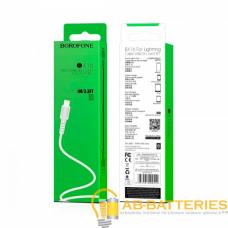 Кабель Borofone BX16 USB (m)-Type-C (m) 1.0м 2.0A силикон белый (1/648)