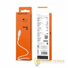 Кабель Borofone BX16 USB (m)-microUSB (m) 1.0м 2.0A силикон белый (1/648)