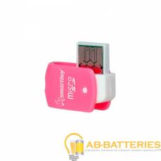 Картридер Smartbuy 706 USB2.0 microSD розовый (1/20)