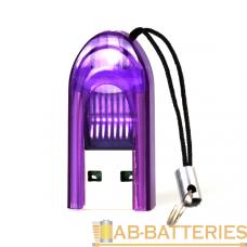 Картридер Smartbuy 710 USB2.0 microSD фиолетовый (1/20)